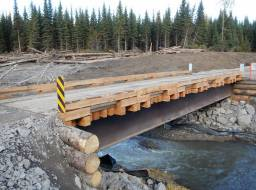 Rebuilt Gavin Lake Bridge-Sep 2014